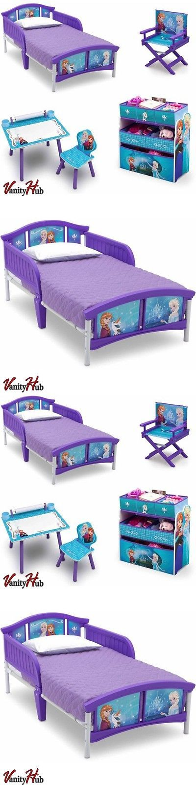 Kids at Home: Disney Frozen Toddler Bed Bedroom Set Toy Box Kids Furniture Desk Chair Bins -> BUY IT NOW ONLY: $160.49 on eBay!