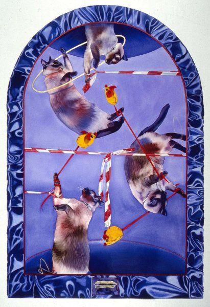 Liz YaroszAsh Cats Cradle Painting, Realism art, Paper art