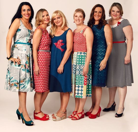 Maiocchi designer Deanne Mayochhi and 5 customers wearing her designs - this photo shoot happened in response to Maiocchi customers not wanting to be marketed to by young size 8 models