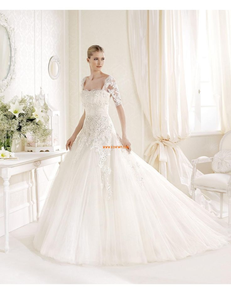 Obrácený trojúhelník Klasické & nadčasové Zip Svatební šaty 2014