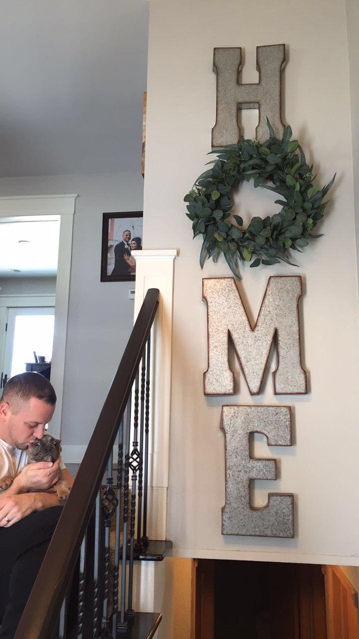 Diy Home Sign With The O As A Wreath Farm House Style