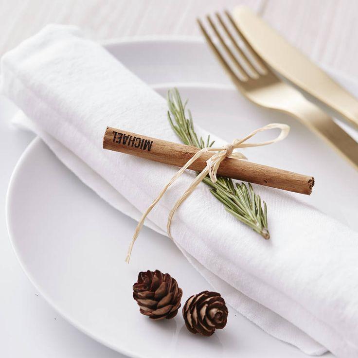 Cinnamon Stick Christmas Personalised Place Setting