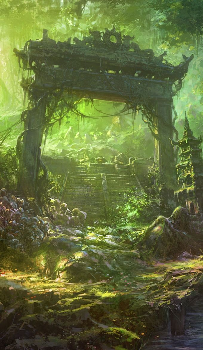 There are holy places everywhere…whether you choose to acknowledge them or not has no bearing on what they are, in their deepest heart. by munashichi || Worldbuilding & Lanscapes
