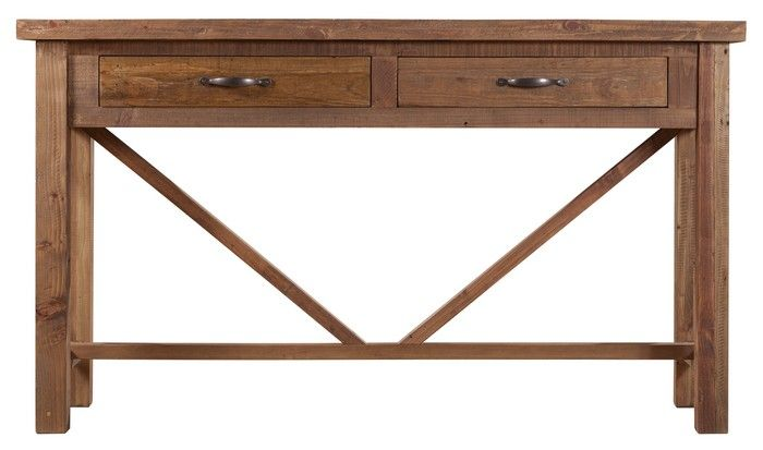 Vintage Console Table with Drawers (1400W x 450D x 800H mm) RRP $549
