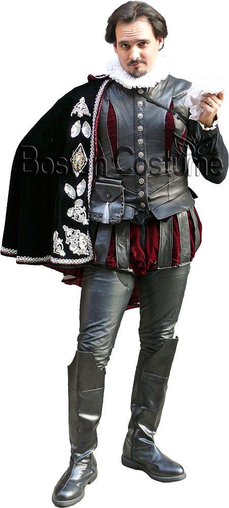 Elizabethan Men S Fashion Black