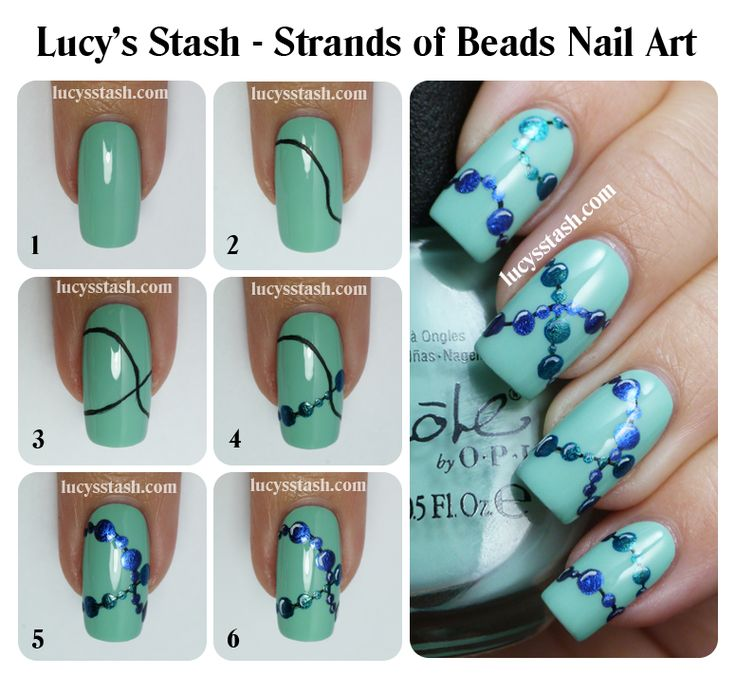 Lucys stash strands of beads nail art with tutorial