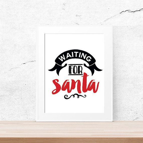 Santa Christmas print Santa quote print by LUCIAandLUCIANA on Etsy