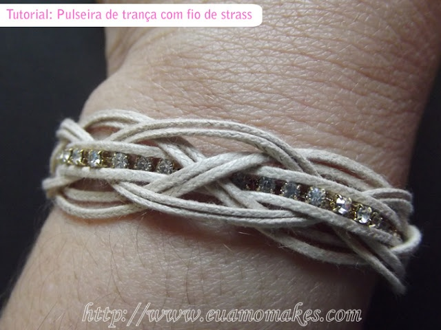 I love makes: Tutorial: braided bracelet with five points and rhinestone wire - Neutral and Chic