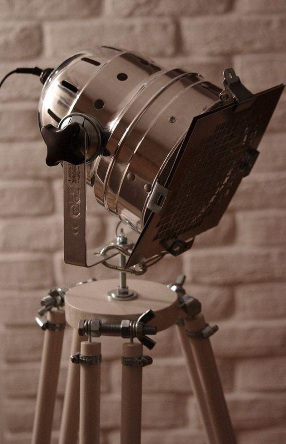 Amazing Standing Lamp Reflektor Loft Tripod WHITE