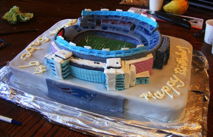 Gillette Stadium Gillette Stadium Birthday cake for 9 year old New England Patriots fan. #featured-cakes #patriots #football #super-bowl #cakecentral