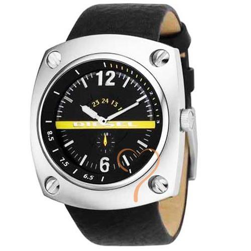Ρολόι Diesel Unisex Black Dial Leather Strap - BeMine.gr