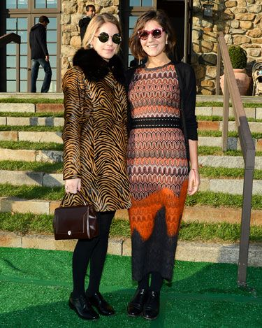 Eugenie Niarchos and Margherita Missoni - Pictures From The Nate Lowman Exhibition at the Brant Foundation - Harper's BAZAAR