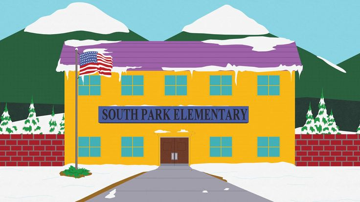 South Park Elementary is the main school in South Park. It is one of the oldest known locations on the show, and has appeared in two incarnations. The school appeared as level two in South Park Let's Go Tower Defense Play!, where Stan Marsh, Kyle Broflovski, and Eric Cartman fight off a horde of Ginger kids and Hippies. The school has undergone two major redesigns. The second of which resulted from the school being accidentally burnt down by the boys.