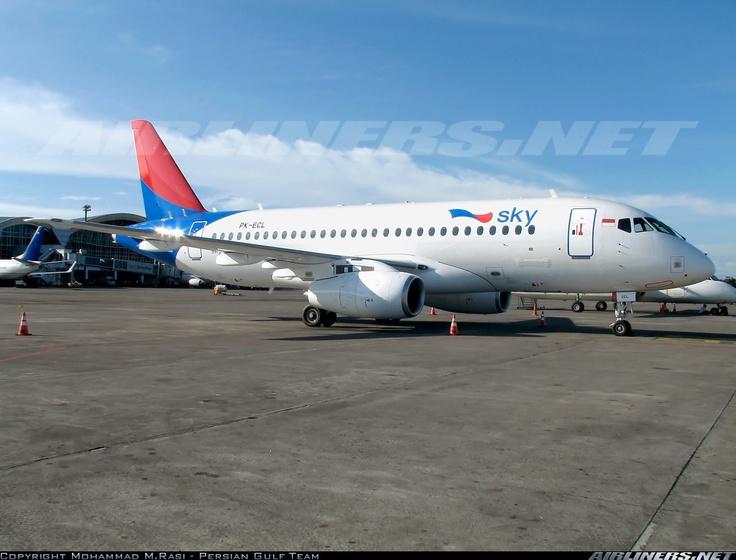 Sky Aviation PK-ECL Sukhoi Superjet 100-95 aircraft picture