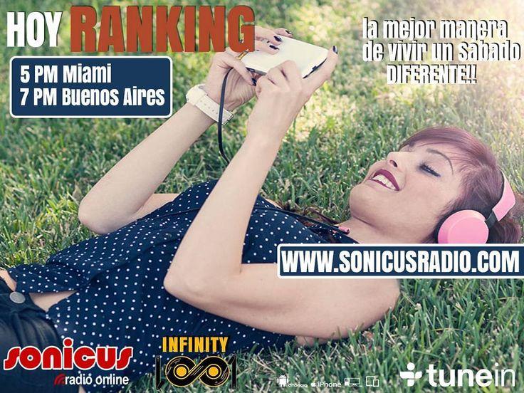 Ya llega el ranking de la radio!! No te lo pierdas!! www.sonicusradio.com #radio #online #music #musica #pop #hits #top  #followme #miami #latinos #hot #party #trendy #artistas #ranking #chart #show  #fashiongram #musicislife #ilovemusic #losangeles #newyork #celebrity  #dominicana #argentina  #tunein