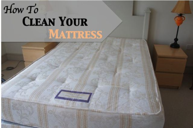 How To Clean Your Mattress. Baking soda and a vacuum. Sprinkle in, vacuum off! Also included are instructions for rotating mattress and a good tip, air out your mattress!