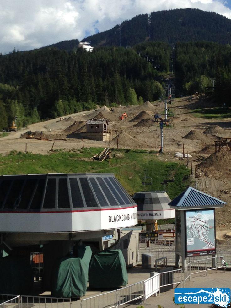 Escape2ski - Whistler Blackcomb, Whistler BC. Mountain Bike Course June 6, 2014. Escape2ski connects you to skiing and snowboarding.