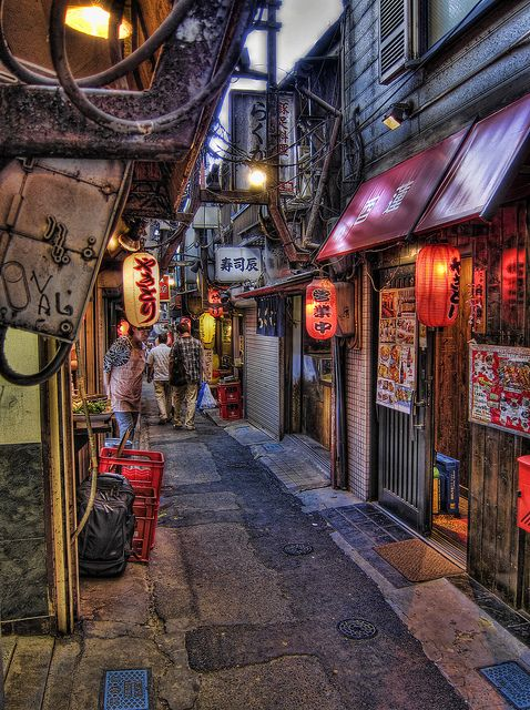 Omoide Yokochō or Memory Lane is located on the western side of Shinjuku Station. This is a small laneway lined with small yakitori bars #Japan