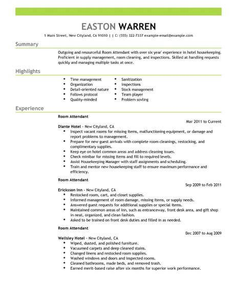Hospitality 4-Resume Examples Resume examples, Sample resume ve