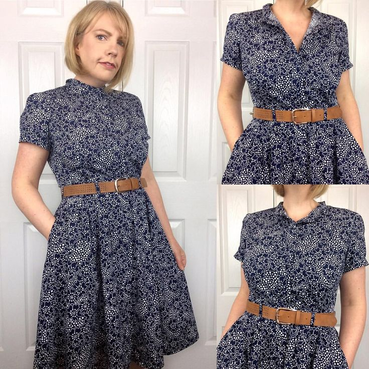 """319 likerklikk, 79 kommentarer – Sew Sarah Smith (@sewsarahsmith) på Instagram: """"Sorry! One more, I can't resist!! I actually prefer this dress buttoned up all the way to the…"""""""