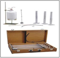 Sand Equivalent Test Set : EI 57  Used to determine the relevant proportions of clay-like or Plastic fines and dust in granular soils.