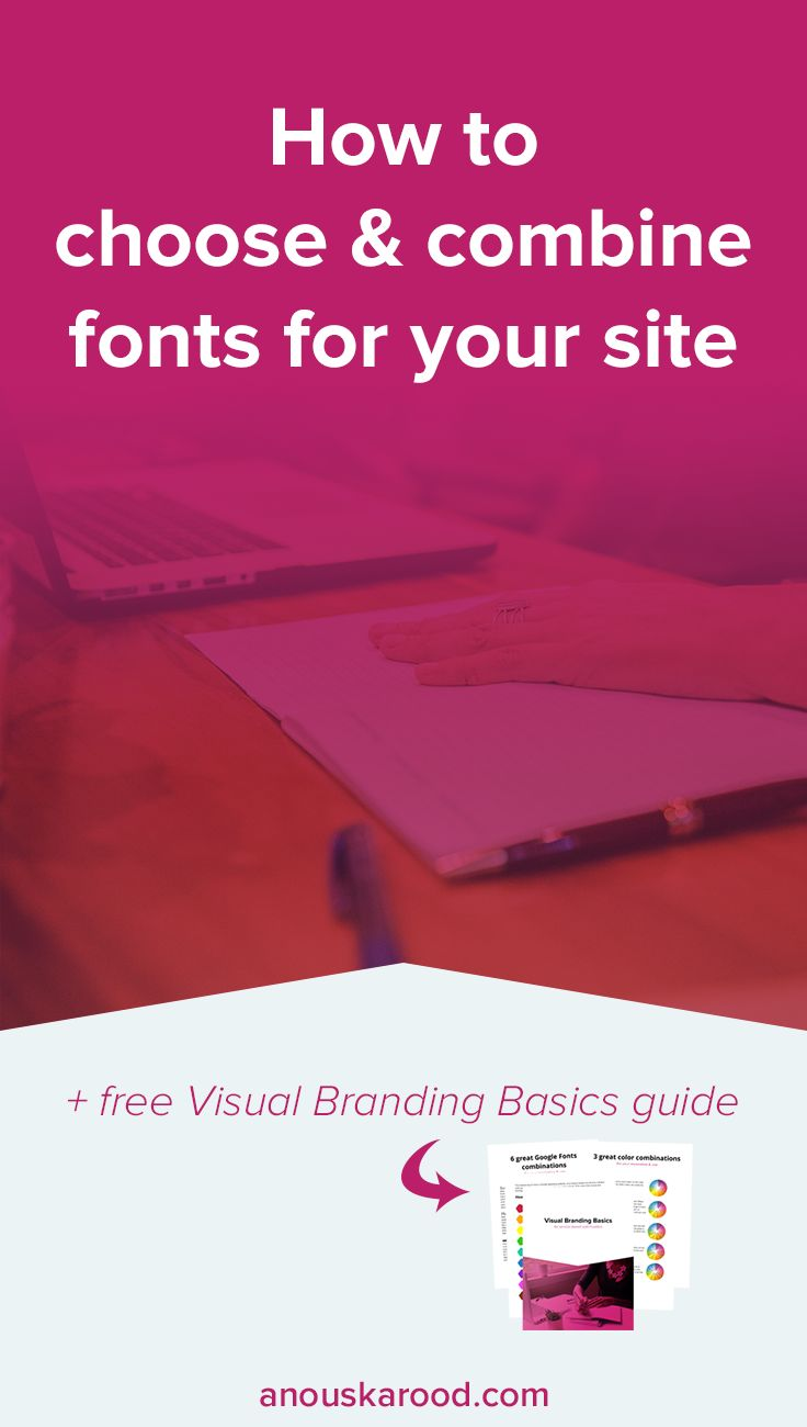 Learn how to choose and combine fonts that work well, and work well together, for your site.