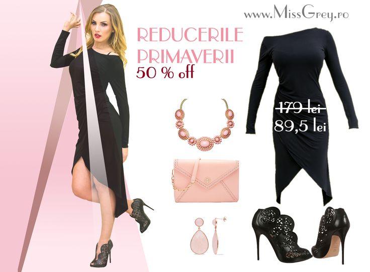50% OFF for elegant dresses and chic outfits for women. Check it now: https://missgrey.ro/ro/blog/rochii-la-reducere-e-timpul-sa-fii-in-pas-cu-moda?utm_campaign=reducerile_primaverii&utm_medium=celiasidaria_rochiilareducere&utm_source=pinterest_articol