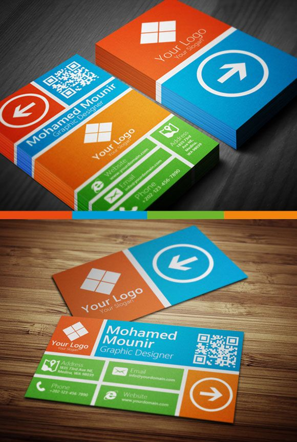 109 best Bold & Colorful Business Cards images on Pinterest ...