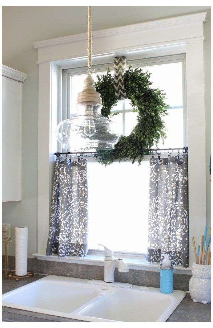 Kitchen Window Curtain Ideas Curtain Above Kitchen Sink Window Treatments Kitchen In 2020 Farmhouse Kitchen Curtains Kitchen Window Curtains Kitchen Sink Window