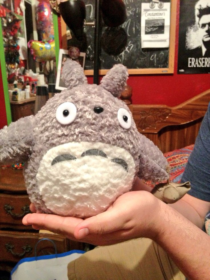 My boyfriend got me some really awesome stuff for my birthday, one of those things being this totally fucking adorable Totoro plush. <3
