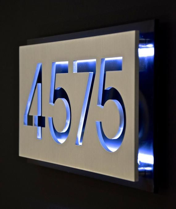 Custom Solid Aluminum House Number And Street Name Address Plaque