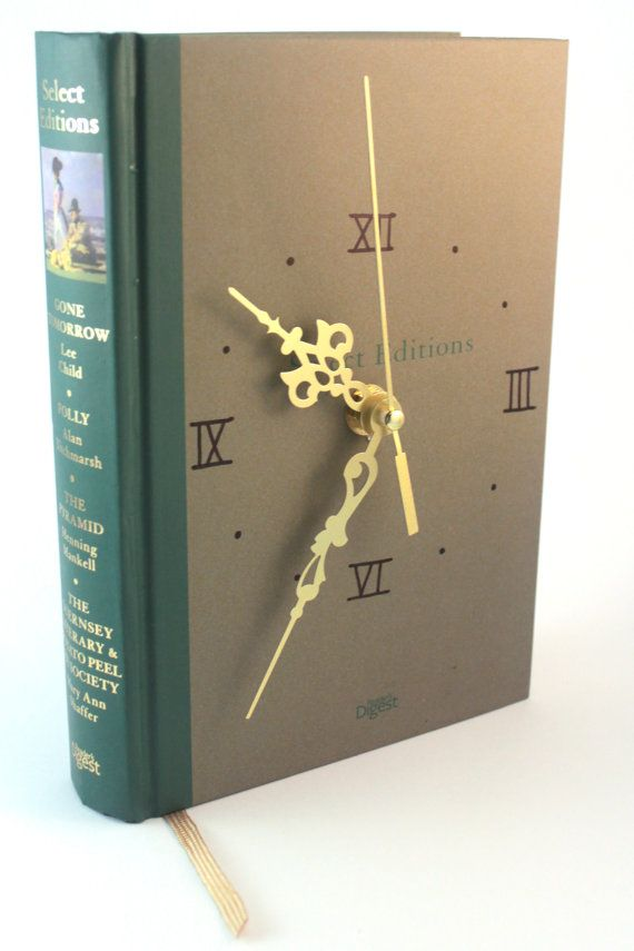 Beautiful Book Clock in Nature Green Colour