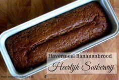 Havermeel Bananenbrood   Dit brood op basis van havermeel is geïnspireerd op een Amish recept, maar bevat geen toegevoegde suiker en is een stuk gezonder!