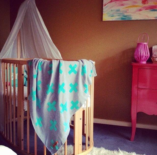 Image of Turquoise Cross Blanket