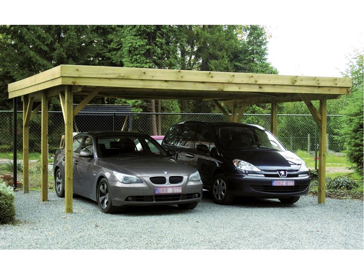 1 595,00 Hubo | Dubbele carport hout 604x510 cm Lengte510 cm Breedte604 cm Hoogte235 cm