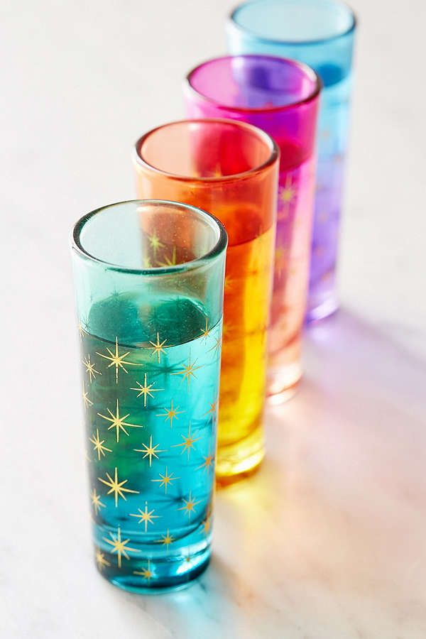 Ombre Star Shot Glass – Set of 4  Urban Outfitters
