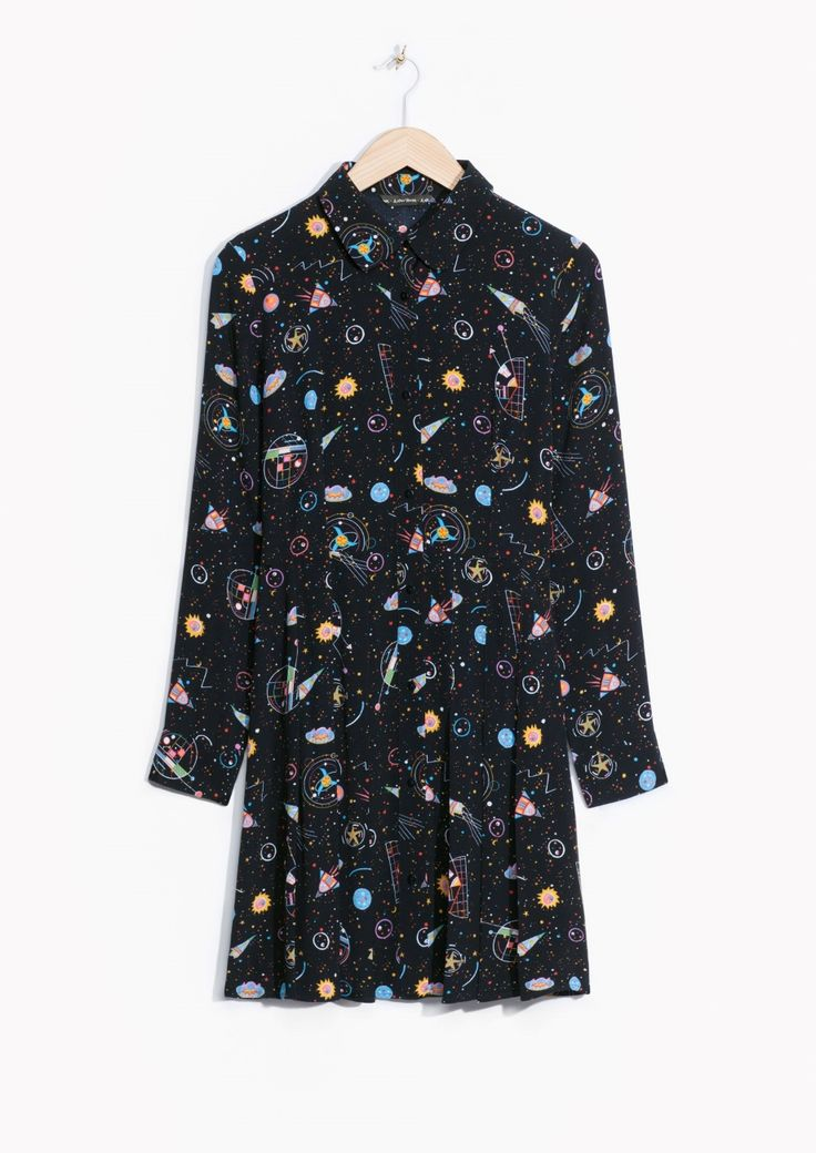 & Other Stories | Galaxy Pleated Shirt Dress