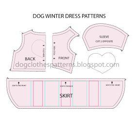 Free Dog Clothes Patterns: Dog winter dress patterns