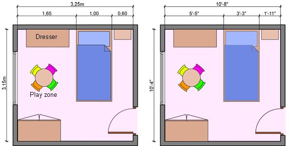 Kids room kid 39 s room bedroom layout small house for Arrange a room with dimensions