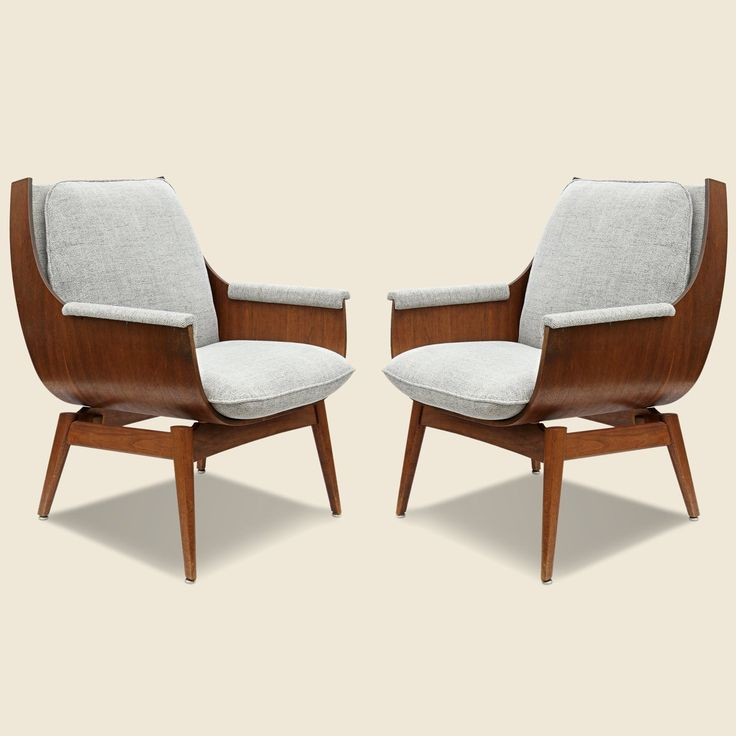 Mid-Century Plywood Chairs