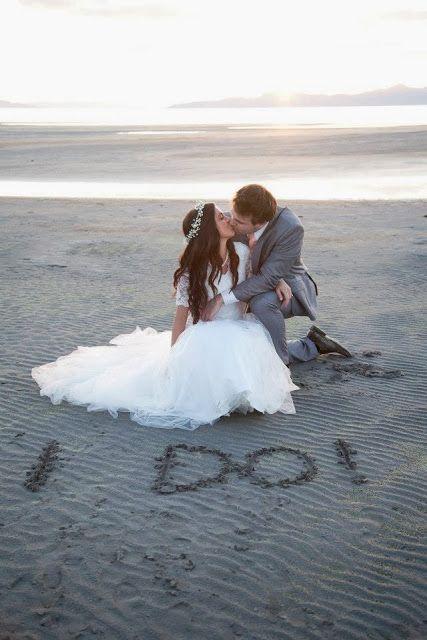 Wedding photography at the beach. Salt Lake Utah