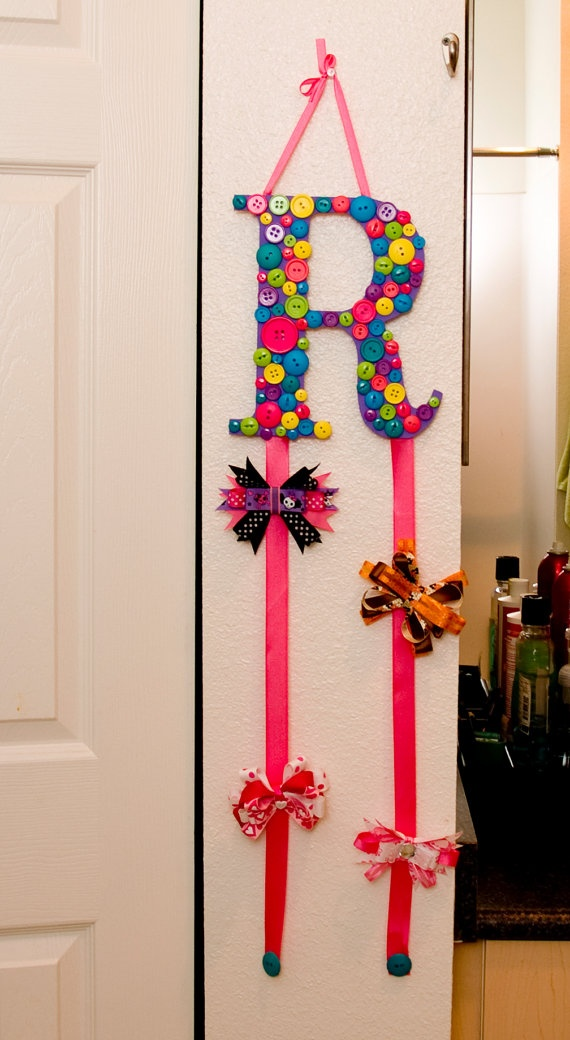Custom Monogram Letter Hair Bow Holder Made with by MamaMakinBows, $20.00