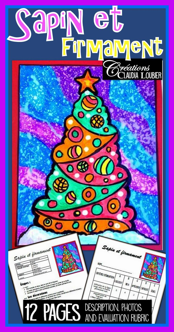 Projet pour le 1er cycle. Je le fais avec mes 1re année. Peut aussi convenir au 2e cycle. On pousse alors les motifs un peu plus loin, en les compliquant. Feutre permanent noir et feutre de couleurs ordinaires. Papier tactile (glacé). Gouache blanche liquide. Grille d'évaluation incluse. Une technique qui a une touche de magie ! Joyeux Noël !