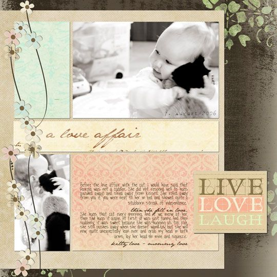 I REALY NEED TO CATCH UP ON ALL MY SCRAPBOOKING!!: Scrapbook Ideas, Ideas Scrapbook, Dogs Scrapbook Layout, Scrapbookingcard Ideas, Cat Scrapbook, Digital Scrapbook, Soft Color, Scrapbook Pages, Scrapbook Pet