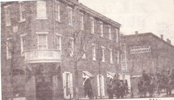 """From the Germantown Courier; Wednesday, August 11th, 2004.  """"Shown is the business of Kirk and Nice undertakers, at Germantown Avenue and Washington Lane, in 1907.  It was at this location up to a few years ago.""""  (The funeral home was located at 6301 Germantown Avenue from the late-1600s until 2001.  It is still in business today.)"""