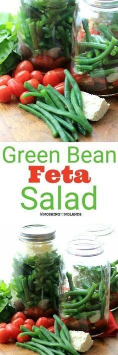 Green Bean and Feta Green Bean and Feta Salad by Noshing With...  Green Bean and Feta Green Bean and Feta Salad by Noshing With The Nolands is an easy to make mason jar salad that is a delicious addition to lunch! Recipe : http://ift.tt/1hGiZgA And @ItsNutella  http://ift.tt/2v8iUYW