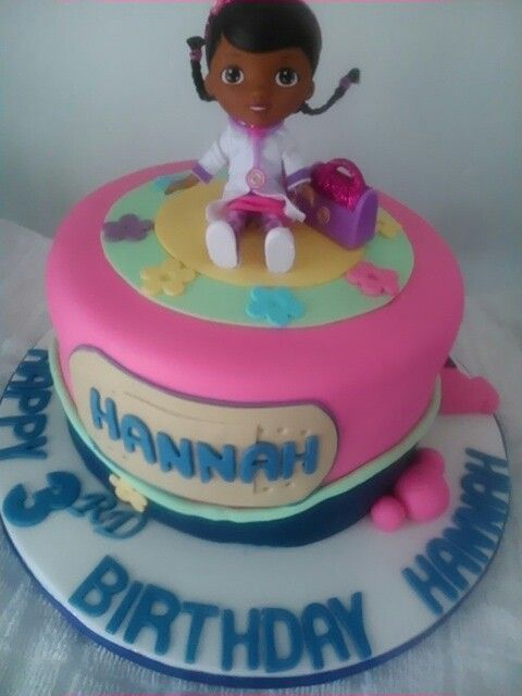 Doc mcstuffins birthday cake by Sheila's Cake Creations Essex Uk