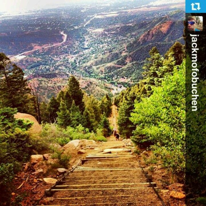colorado springs' the incline. i just did this!! feel the burn :)
