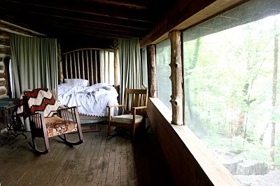 sleeping porch: fresh air & a cozy bed...imagine the sounds and smells...i'd always awake smiling and rested: Houses, Sleeping Porch, Style, Lakefront Cabins, Desks, Sleep Porches Lov, Cabins 2012, View, Porches Yard