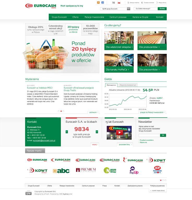 Eurocash layout. For more visit: http://be.net/mareklasota